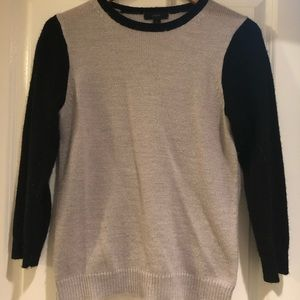 J. Crew Gray and Black sweater